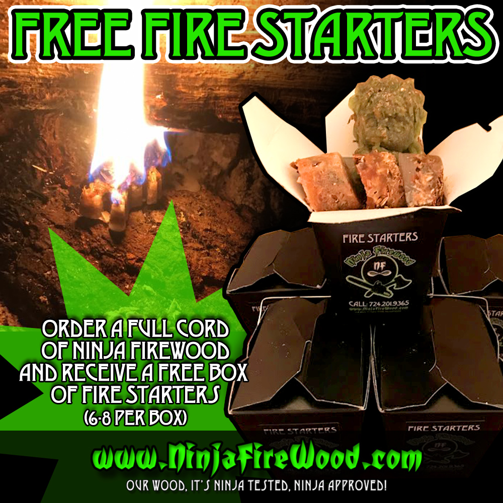 Free Fire Starters with Full Cord Order Firewood