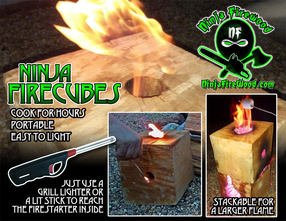 Ninja Firecube - blazing block, firewood box