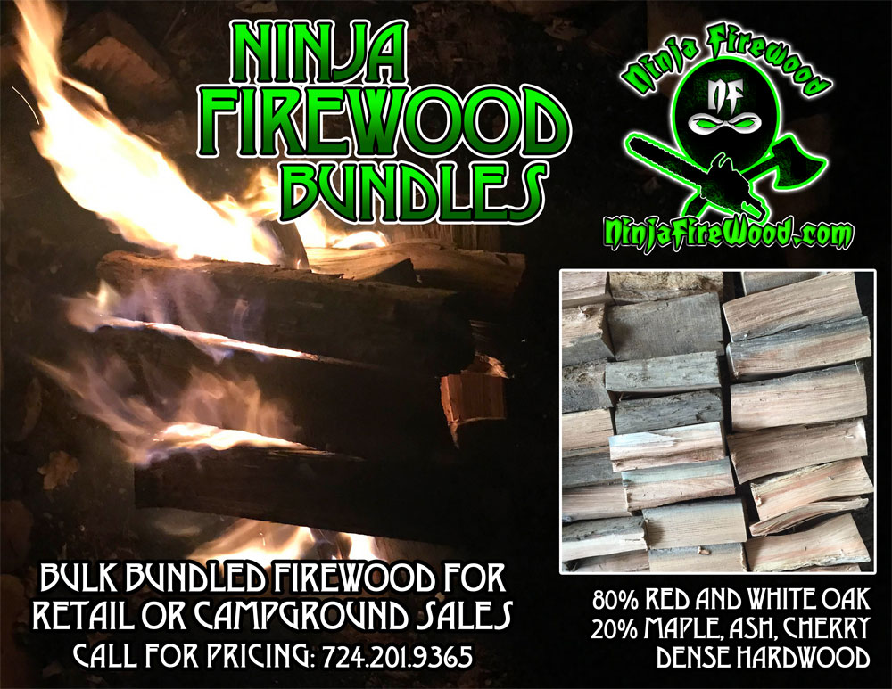 Firewood Bundles for Retail or Campgrounds